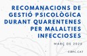 Guia de gestió psicològica davant quarentenes per malaties infeccioses